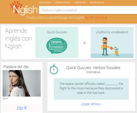 Ahora puedes aprender inglés de forma gratuita desde la aplicación y la web Nglish