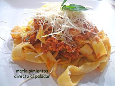 Receta de pasta fresca casera alla bolognesa