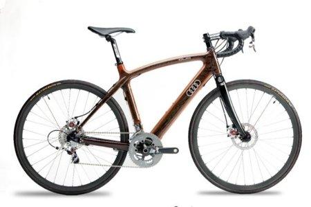 Audi también tiene su familia de preciosas bicicletas, pero en color marrón caca