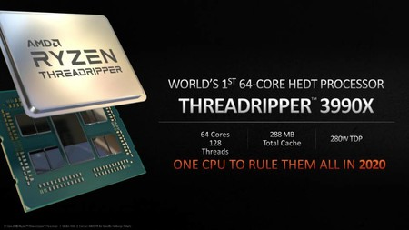 AMD Ryzen Threadripper 3990X, el que buscará será el procesador más potente se prepara para llegar en 2020 con 64 núcleos