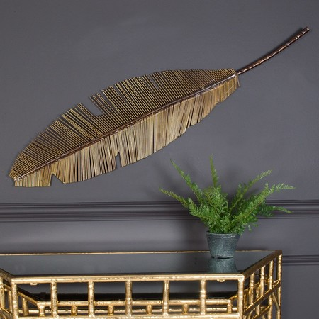 Golden Feather Wall Art