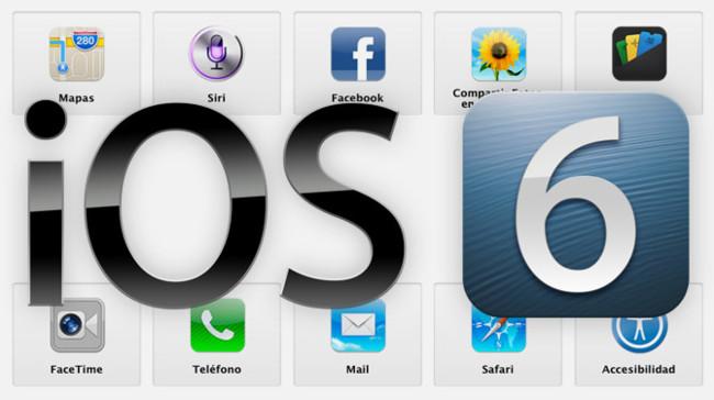 Todas las novedades de iOS 6