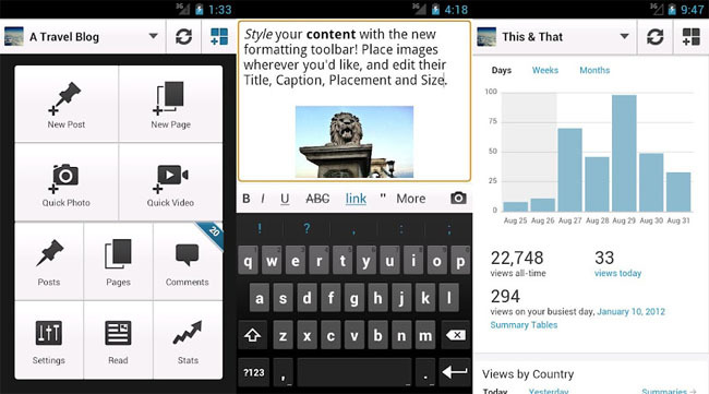 WordPress para Android