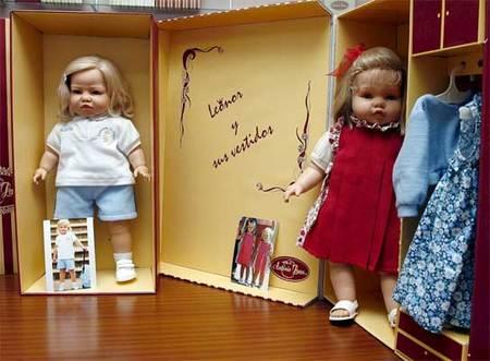 Muñecas de Leonor y de Sofía