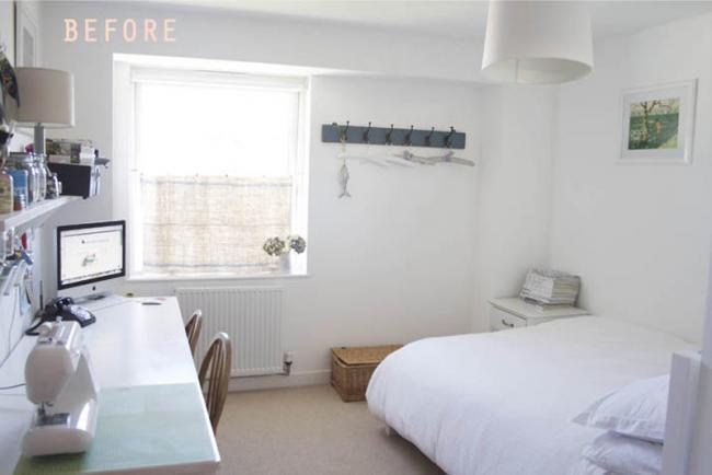 Antes y despu s convierte tu cuarto de invitados en una - Mesas de habitacion ...