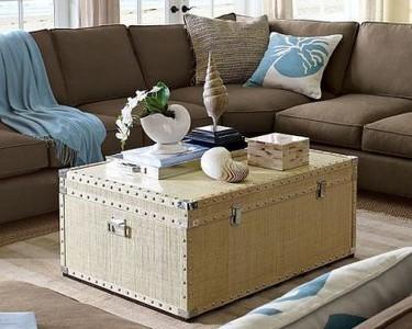 Una buena idea: Un baúl como mesa de café