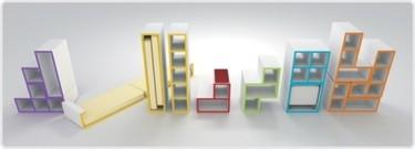 Espacio de almacenamiento inspirado en el Tetris