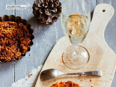 Tarta Tatin de manzana caramelizada. Receta de postre para Navidad