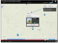 Aplicaciones viajeras. Volar con Delta : wifi a bordo y suelo de cristal