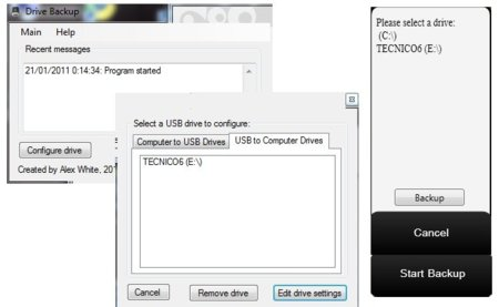 Copias de seguridad de las unidades USB con DriveBackup