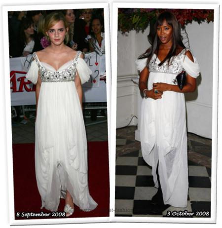 Vestido de Alexander McQueen: ¿Emma Watson o Naomi Campbell?