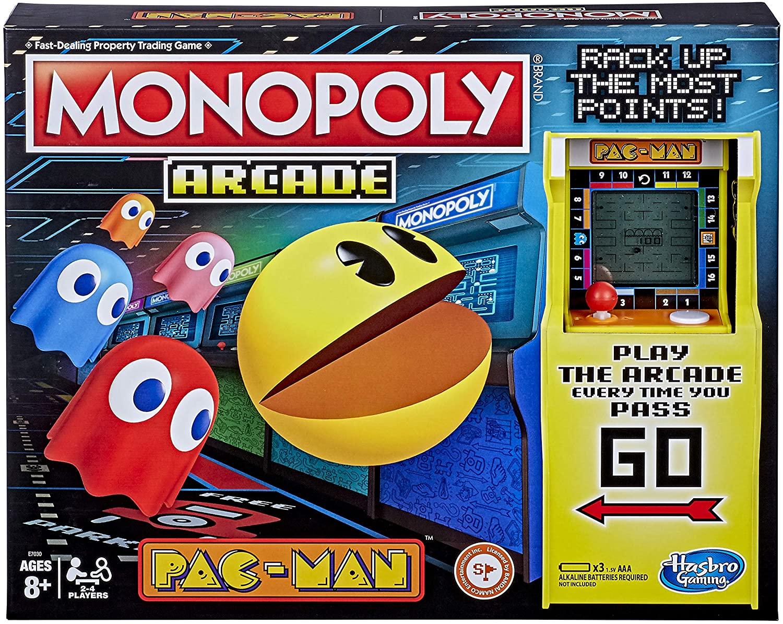 Monopoly Arcade Pac-Man Game; Juego de Mesa para niños de 8 años en adelante; Incluye Unidad bancaria y Arcade