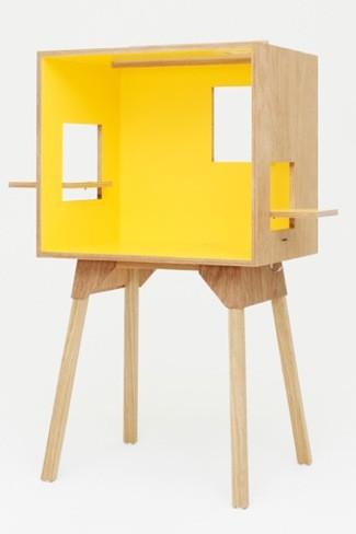 Original escritorio caja con ventanas de Torafu