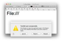 """""""Pequeños bug"""", grandes molestias. No escribas 'File:///' en ninguna app de OS X"""