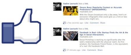 """El botón """"Me gusta"""" de Facebook pronto podría reemplazar al botón """"Compartir"""""""