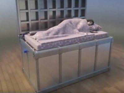 """Esta cama nos """"tragará"""" con la intención de protegernos durante un terremoto"""