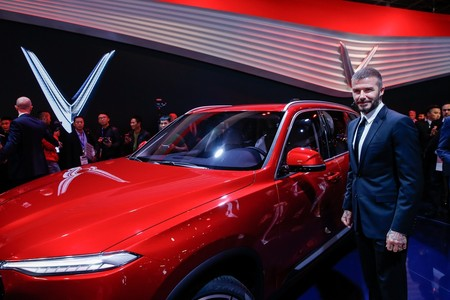 David Beckham Joins Vinfast At The Paris Motor Show 1