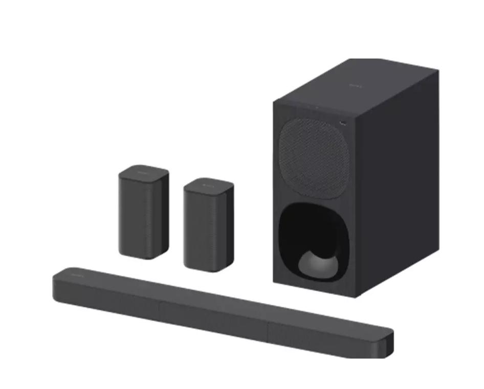 Barra de sonido - Sony HT-S20R, 5.1, Subwoofer Con cable, 2 altavoces, Bluetooth y USB, 400 W, Negro