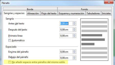 LibreOffice 3.6 espacio contextual