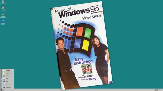 Cuando Microsoft recurrió al reparto de la serie 'Friends' para anunciar Windows 95