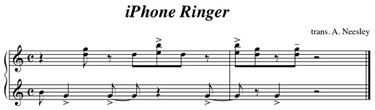 Partitura del tono del iPhone