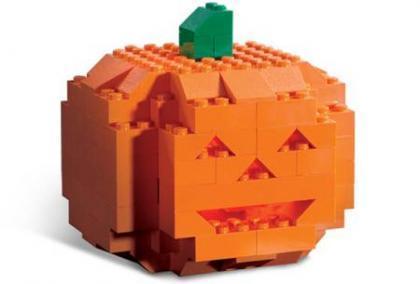 Calabaza de Halloween con Lego