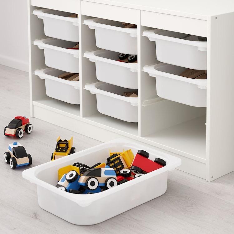 Combinación de almacenaje con cajas, blanco