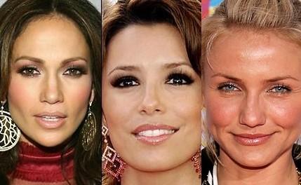 Jennifer Lopez, Eva Longoria y Cameron Díaz... sin maquillaje.