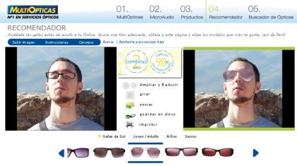 Pruebate las gafas virtualmente antes de decidirte por unas