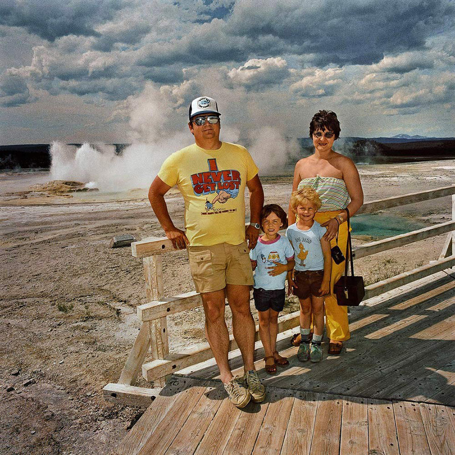 Family At Midway Geyser Basin Yellowston National Park Wy 19801