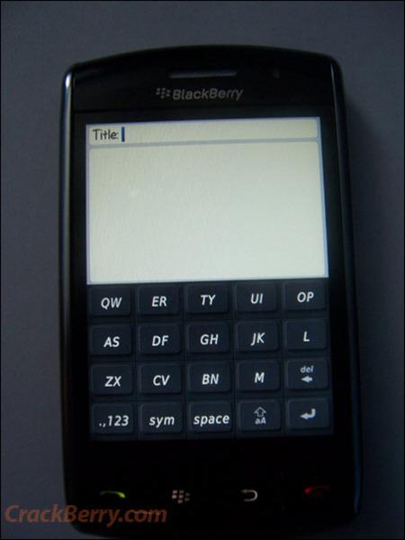 BlackBerry Thunder, primeras imágenes