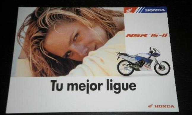 Publicidad Honda Nsr 75