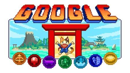 El mayor doodle hasta la fecha se compone de siete minijuegos que homenajean el olimpismo, la cultura japonesa y los 16 bits