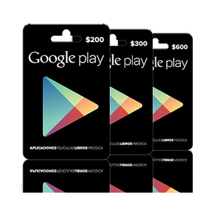 Las tarjetas regalo de Google Play ya disponibles en México