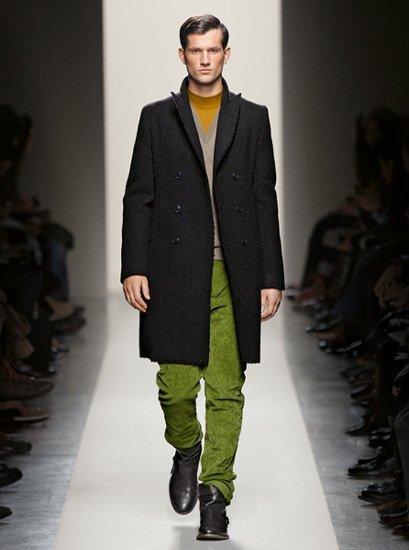 El verde Peridot protagonista en Bottega Veneta para hombre Otoño-Invierno 2011/2012