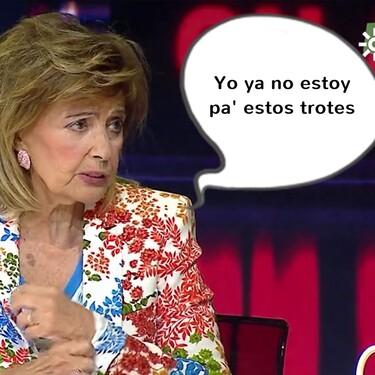 María Teresa Campos perdona, pero no olvida, y todavía tiene unas amargas palabritas para algún que otro colaborador de 'Sálvame'