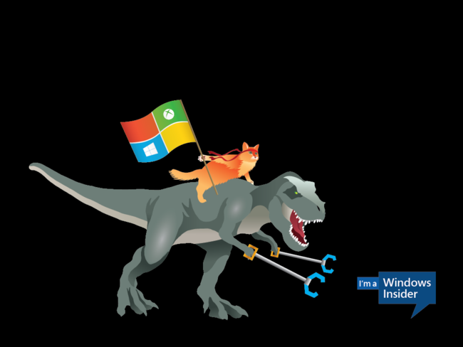 Windows Insider Ninjacat Trex 1024x768 Desktop