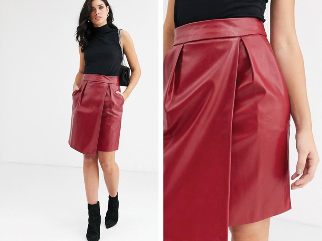 Minifalda de cuero sintético de Closet