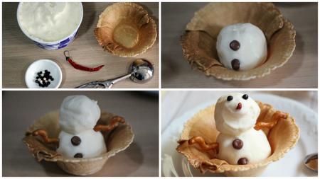 muñeco nieve paso