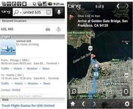 Bing más cerca de Android
