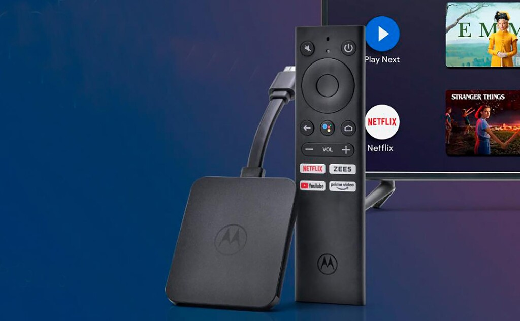 Motorola 4K Android TV Stick, nuevo reproductor multimedia en colaboración con Flipkart India
