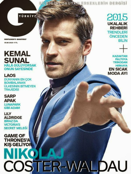 Nikolaj Coster Waldau Gq Turkey January 2015 Cover