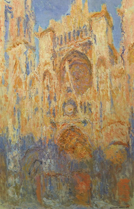 800px Claude Monet Rouen Cathedral Facade Sunset