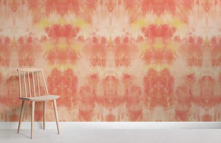 Papel Pintado Tie Dye Naranja Chair Web