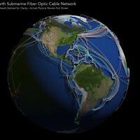 Este impresionante mapa muestra los 1.3 millones de kilómetros de cables submarinos que conectan el internet  de México y el mundo