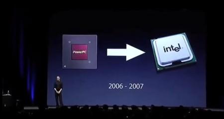 Transición de PowerPC a Intel presentada en 2005.