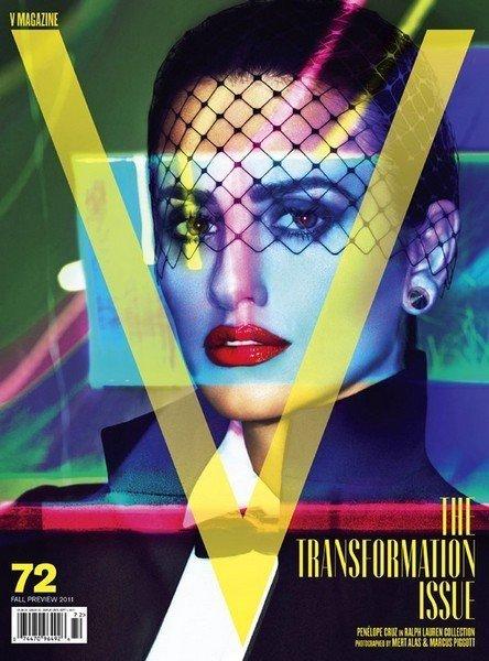 Penélope Cruz y su sofisticado look en la portada de V Magazine