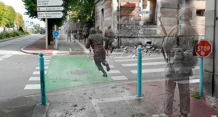 """""""Ghosts of History"""", la mezcla de fotografías de la Segunda Guerra Mundial con su presente"""