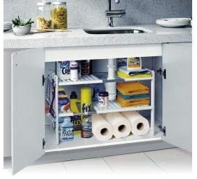 Kitchen cabinet shelving