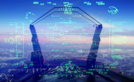 HUD en avión de combate
